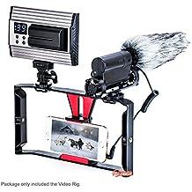 Zeadio Smartphone Vidéo Rig, Téléphone Films Mount Handle Grip Stabilisateur, Filmmaking Enregistrement Rig Case pour Video Maker Cinéaste Vidéaste - Convient iPhone, Samsung, et tous les téléphones
