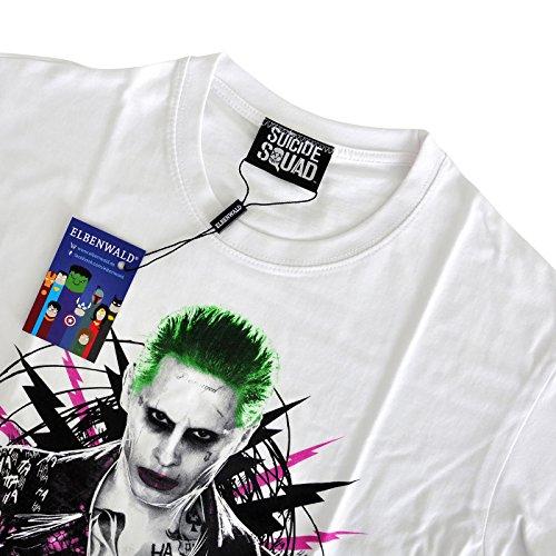 Suicide Squad T-Shirt Joker Prince of Crime von Elbenwald weiß Weiß