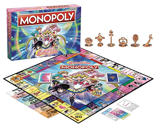 Sailor Moon Monopoly Board Game Juego Mesa - Ingles