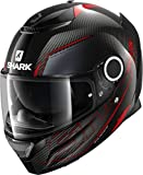 Shark Cascos de motocicleta SPARTAN CARBON 1.2 SILICIUM DRA, Noir/Rouge, XL