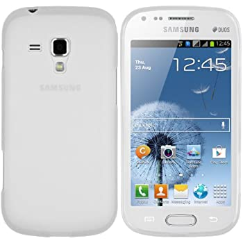 mumbi TPU Silikon Schutzhülle für Samsung Galaxy S Duos / S Duos 2 Hülle transparent weiss