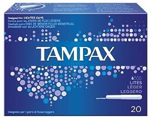 Tampax Blue Box Lites 20