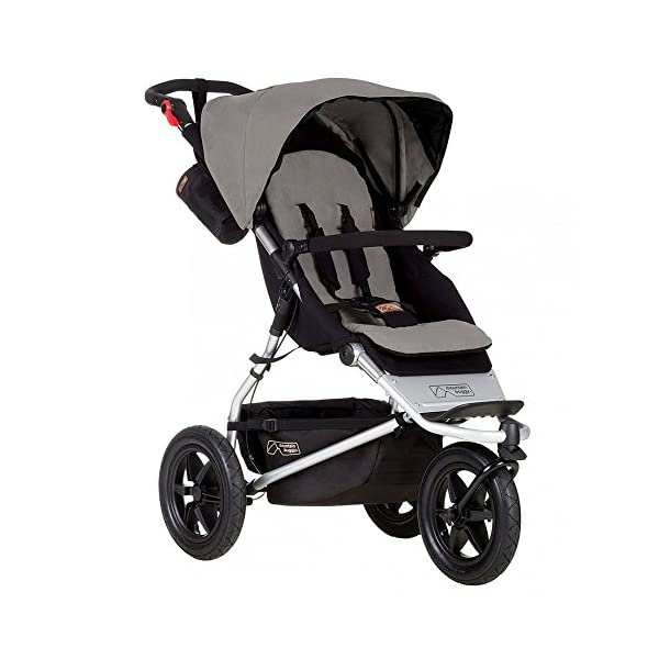 Mountain Buggy Urban Jungle Pushchair (2015) Mountain Buggy One hand fast fold with a hidden automatic frame lock Compact stand fold Hand operated brake, with green and red indicators 3
