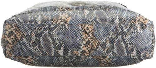 Poodlebags celebrity python Angelkina 0509FG, Damen Umhängetasche,grau (grey), 40x40x10 grau