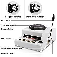 Autovictoria 72 caracteres grabación en relieve de la tarjeta de PVC máquina manual letras impresora de