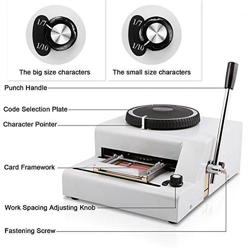 Autovictoria 68 caracteres grabación en relieve de la tarjeta de PVC máquina manual letras impresora de matriz punzonadora por VIP tarjeta de regalo de la identificación del crédito