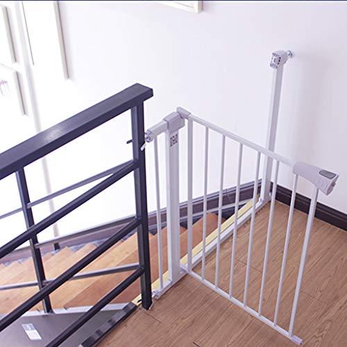 Barrière de sécurité Portes pour Animaux de Compagnie Extra-Hautes et Larges pour Les Portes, protège-Mur, Porte de Chat en métal, Blanc, Hauteur de 96 cm (Taille : Width 165-172cm)