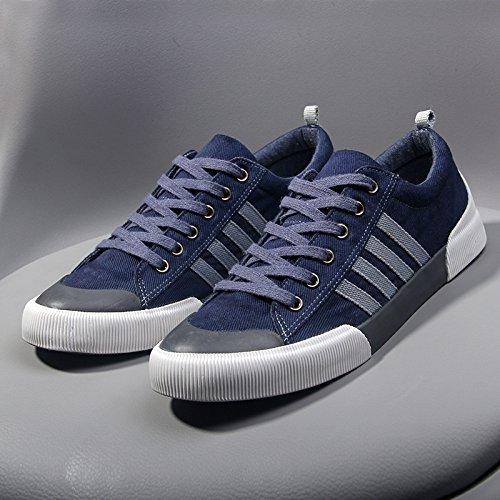 gli uomini di moda casual scarpe con i lacci delle scarpe mens espadrilli blue
