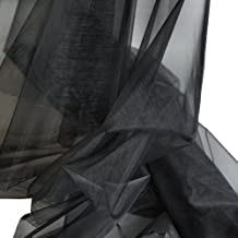 TOLKO® ORGANZA Stoff in Schwarz - hauch zart und durchsichtig als Meterware am Stück