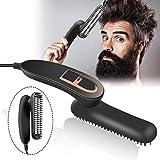 Raddrizzatore della barba per uomo, pettine multifunzione elettrico pettine caldo PTC riscaldamento pettine per raddrizzare i capelli, spazzola per raddrizzare, pieghevole, portatile