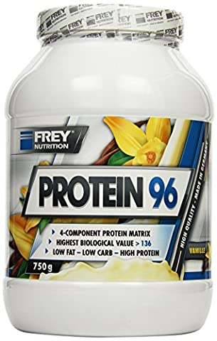 Frey Nutrition Protein 96 Vanille Dose, 1er Pack (1 x 750 g) (96 Natural)