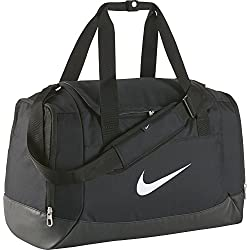 Nike Club Team Swoosh Duffel S Bolsa de deporte, 40 cm, 43 liters, Negro (Schwarz)