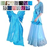 Wocharm Women Fashion Silky Iridescent Wrap Stole Shawl For Weddings Bridal Girls Evening Wear Prom Parties