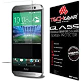 TECHGEAR® HTC One M8 & M8s GLASS Edition Genuine Tempered Glass Screen Protector Guard Cover (HTC One M8 / M8s)