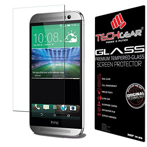TECHGEAR Verre Trempé pour HTC One M8 & M8s, Protecteur d'Écran Original en Verre Trempé Compatible pour HTC One M8 / M8s