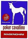 Masenghini 2391 - Poker Cavallino Carte da Gioco, Astucio Blu