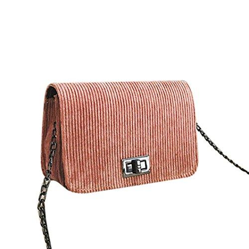 Damen Schultertasche, VJGOAL Frauen Mädchen Mode Wolle Haspe Handtasche Crossbody Mini kleiner Schultertasche Frau Geschenk Pink