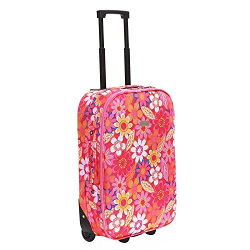 Slimbridge Algarve 55cm maleta súper ligero, Flores Rosadas