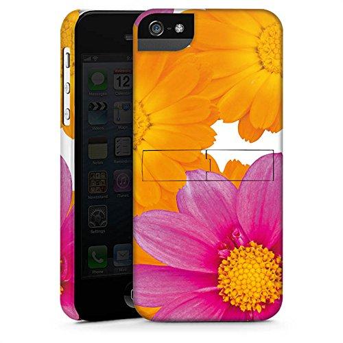 Apple iPhone X Silikon Hülle Case Schutzhülle Blumen Pink Margeriten Premium Case StandUp