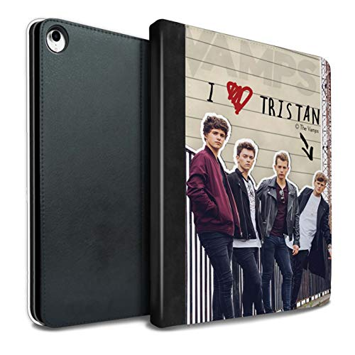 The Vamps PU Pelle Custodia/Cover/Caso Libro per iPad PRO 10.5 (2017) Tablet/Tristan Diario Segreto Disegno