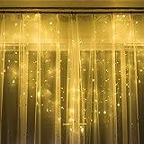 Led String Lights Tenda Window Fata Esterna A Pile Striscia Led A Forma Di Cuore A Forma Di Cuore Per Ragazza, Camera Da Letto Per Bambini, Bianca