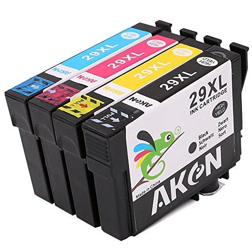 Preisvergleich Produktbild Aken Ersatz für Epson 29x l Tintenpatronen kompatibel mit Epson Expression Home xp-235xp-332xp-335xp-442xp-245xp-432xp-435xp-247xp-342xp-445xp-345(1schwarz, 1cyan, 1magenta, 1gelb)