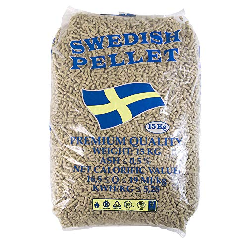 x10 sacchi di Pellet 100% abete certificato 15kg per stufa alta qualità Svedese