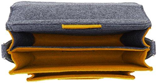 Urban Country , Borsa Messenger  Unisex, grigio (Grigio) - UC008002-Grey Grey / Mustard