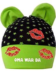 mitwachsende Baby - Kinder Mütze mit Ohren - Oma war da / in 4 Designs / Größen 35 - 53