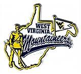 NCAA West Virginia Mountaineers 2D Mascot Map Magnet
