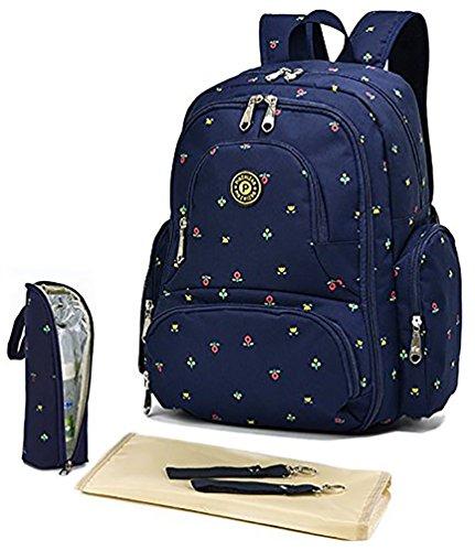 ät Mama Reise Windel Handtasche Oxford Stoff Krankenpflege Schulter Organizer Tasche Polyester Rucksack, blau A (Krankenpflege Tote Taschen)