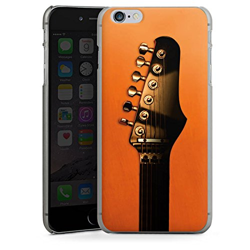 Apple iPhone X Silikon Hülle Case Schutzhülle Gitarre Saiten Instrument Hard Case anthrazit-klar