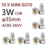 10x Glühbirne LED 35mm GU103W 4500K Spotlight Mini 220V 240V Spot Angulo Living Schlafzimmer Kleiner Tisch Lampe (3)
