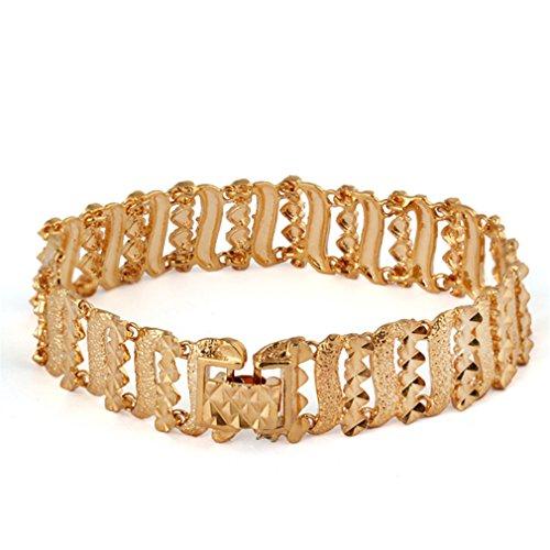 YAZILIND Hohl Streifen Art Frauen Gold überzogenes Armband Stulpe Armband Goldene