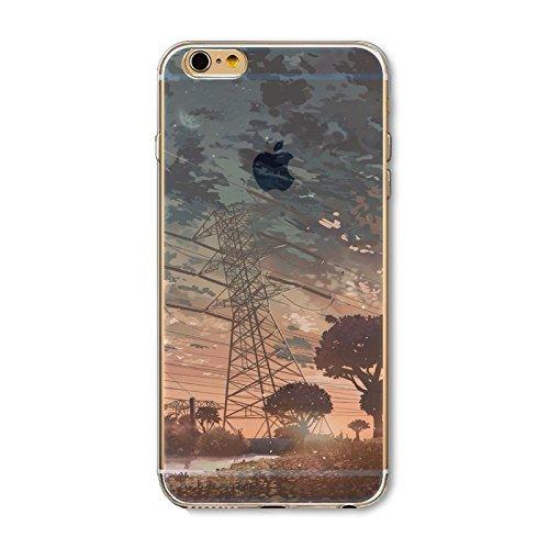 Coque iPhone 6 6s Housse étui-Case Transparent Liquid Crystal en TPU Silicone Clair,Protection Ultra Mince Premium,Coque Prime pour iPhone 6 6s-Paysage-style 4 4