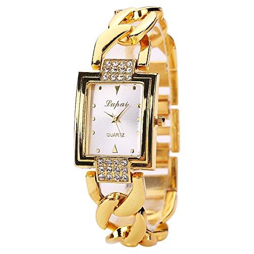 Galy Damen Armbanduhr Platz Gold Damen Uhr Mode Luxus Frauen Armbanduhr Schlanke Uhr Wasserdichte Damen Uhr Diamant Zifferblatt Quartz Women Watches