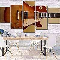 ZTTPCP 100x55cm Home Decor Print Canvas Painting 5 Panel Instruments Guitar Wall Art Canvas Painting Wall For Living Room Prints