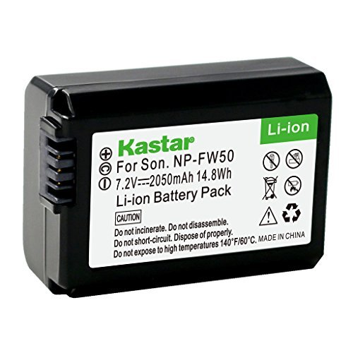 Kastar Battery for Sony NP-FW50 and Alpha 7 7R 7R II 7S a7R a7S a7R II a5000 a5100 a6000 a6300 NEX-7 SLT-A37 DSC-RX10 DSC-RX10 II III 7SM2 ILCE-7R 7S QX1 5100 6000 Digital Camera, VG-C1EM VG-C2EM Grip  available at amazon for Rs.1879