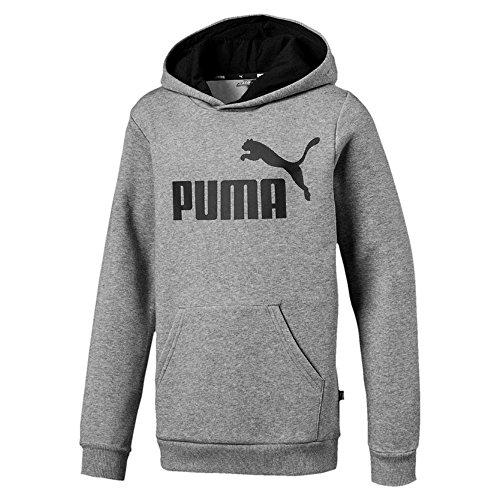 Puma Jungen ESS Logo Hoody FL B Sweatshirt, Medium Gray Heather, 164