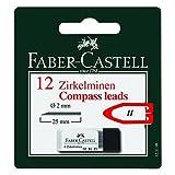 Faber-Castell 123198 - Zirkelmine, 2mm, 12 Stück