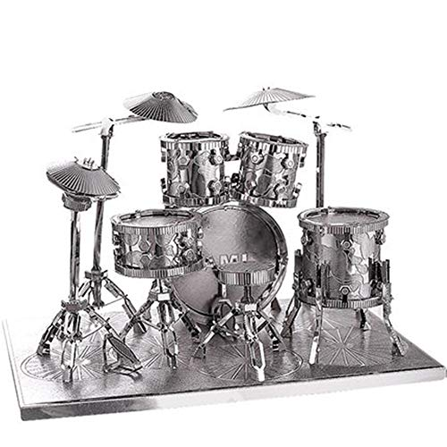 Trommel Trommel 3D Handwerk kreative dreidimensionale Metall handmontierte Modell Spielzeug Wohnaccessoires Modell SilberEinheitsgröße - Metall John Deere Spielzeug