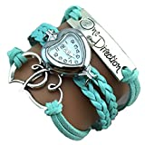 One Direction Heart Watch Charm Bracelet...