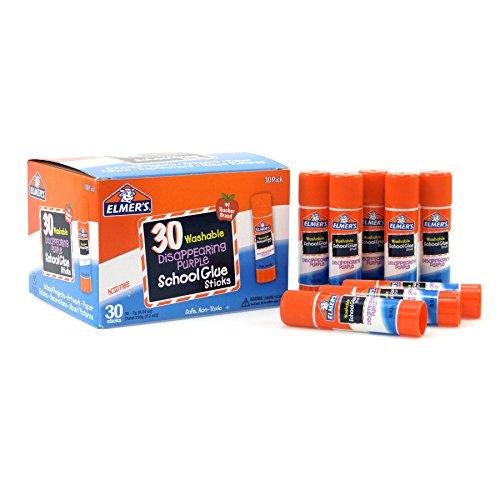 Klebestift Office Elmers (Elmer's Glue Sticks, Purple (Pack of 30))
