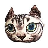 3D-Cartoon-Kopf-Form-Kissen-Auto-Sofa-Stuhl Rückenkissen-Katze