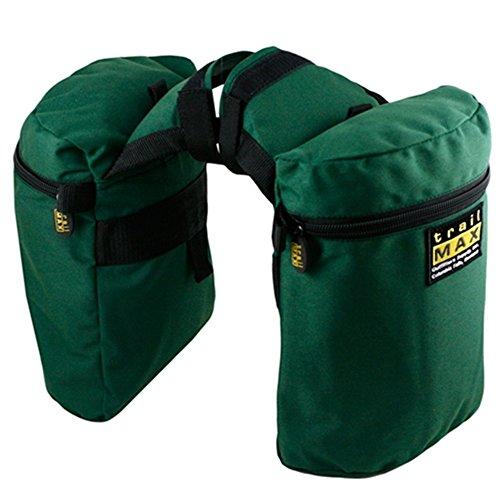 trailMAX Original Doppel Horntasche Satteltasche Western Packtasche grün