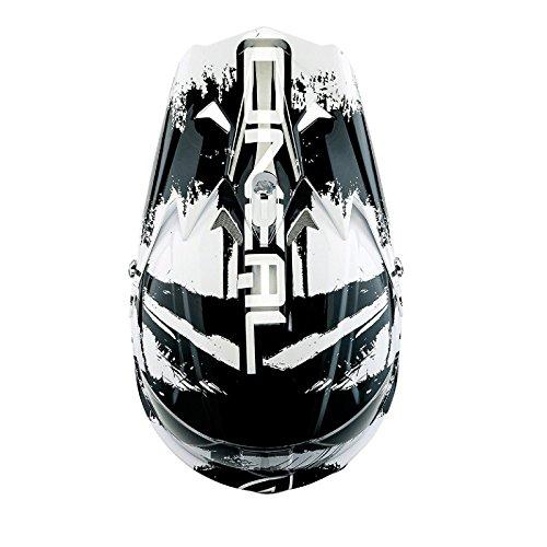 O'Neal 3Series SHOCKER MX Helm Schwarz Weiß, 0623S-8, Größe Medium (57 - 58 cm) -