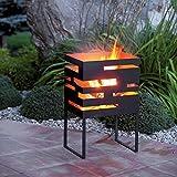 Design-Feuerkorb / Feuerschale FLAME aus Metall mit Feuerschutz-Beschichtung - (65689) - Für den Außenbereich und die Terrasse