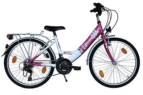 Harmony 24 Zoll Fahrrad Kinderfahrrad 18 Gang Shimano STVO Pink