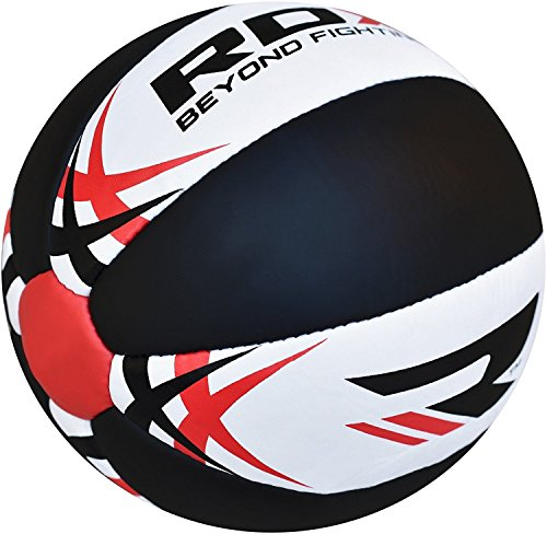 RDX-Medicine-Ball-Gym-Abs-Exercises-Leather-Weighted-Med-Ball-for-Functional-Training-Fitness-Crossfit-Great-for-Slams-Cleans-Throws-Crunches-Available-In-5810-And-12KG