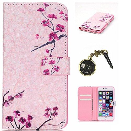 PU Silikon Schutzhülle Handyhülle Painted pc case cover hülle Handy-Fall-Haut Shell Abdeckungen für Smartphone Apple iPhone 6 6S+Plus (5.5 Zoll)+Staubstecker (P3) 8